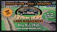 Giving Hope Lawn Management