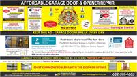 Affordable Garage Door & Opener Repair