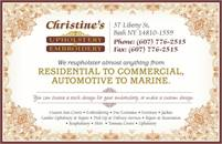 Christine's Custom Upholstery & Embroidery