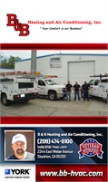 B&B Heating And Air Conditioning, Inc.