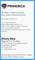 Primerica Financial Services - Monta Ware