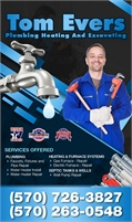 Tom Evers Plumbing Heating And Excavating