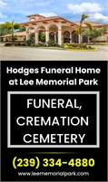 Hodges Funeral Home At Lee Memorial Park