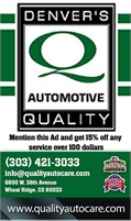 Denver's Quality Auto Care & Tire Center Inc