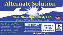 Alternate Solution Care Giver Specialist LLC
