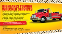 Highlakes Towing • Wrecker Services