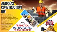 Andreas Construction Inc