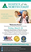 Hospice of the North Coast proudly supports North County Veterans