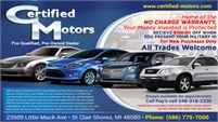 Certified Motors Inc