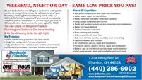 Benjamin Franklin Plumbing and DeBord's One Hour Heating & Air Conditioning