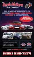 Rush Motors Used Car Sales