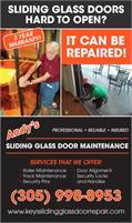 Andy's Sliding Glass Door Maintenance