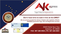 AK Express Tags/Titles & Registrations