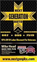 Next Generation Auto Repair and Emissions