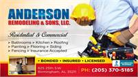 Anderson Remodeling & Sons LLC