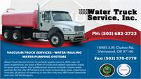 Water Truck Service Inc