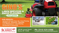 Gino's Lawn Service & Snow Plowing